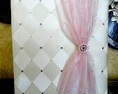 "Personalize Wedding Photo Album 8"" x 10"" & 5"" x 7""  Photos Wedding, Sweet 16 Album, Quinceanera photo album with Swarovski Crystals"