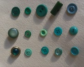 Fun Collection of Shabby Green Vintage Buttons...