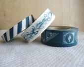 Japanese Washi Tape -  Postage Stamp Trio