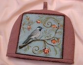SALE - Teapot Cozy / Cosy - Birds In a Garden 4 - Free shipping on Additional Items