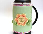 SALE - Coffee Pot Cozy - Summer Flower - Free shipping on Additional Items