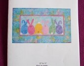 Bunny Pattern - Cute Wall Hanging - Castilleja Cotton Applique Pattern