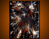 Lunacy Revealed - Large original expressive abstract oil painting 24 x 30 Free Shipping Free Frame