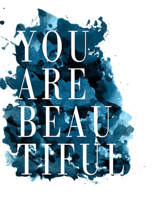 Custom Listing - You are Beautiful - Graphic Design Print 16x20
