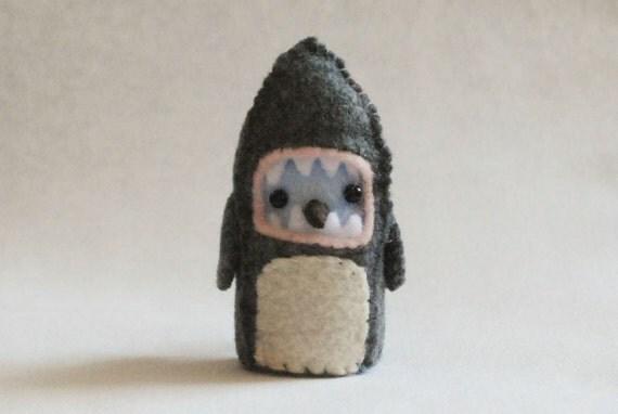 Jaws Bird: A Tweet and Tweed Handmade Felt Bird