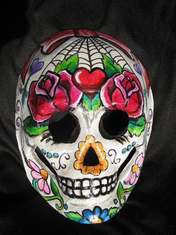 Hand Painted Day Of The Dead Sugar Skull Masks by ...