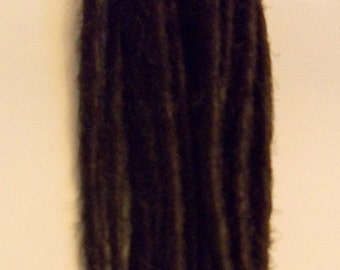 50 Dark Brown SE Synthetic Dreads Custom Dreadlock Hair Extensions or Dread Falls