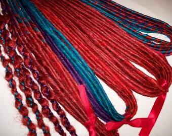 80 Synthetic Custom Dreads Dreadlock Hair Extensions or Dread Falls