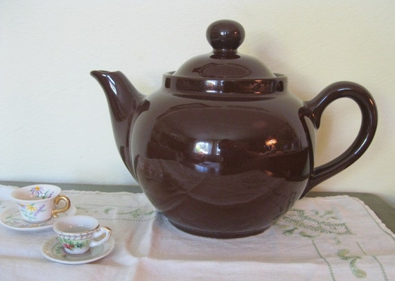 Dark Brown Teapot, made in Italy