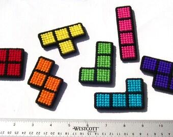 Tetris Block Refrigerator Magnets