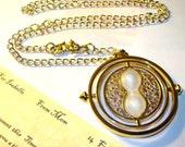 Harry Potter Time Turner Necklace, Crookshanks & Personalized Parchment Note