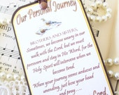 Christian Bookmark Our Personal Journey Prayer Bookmark