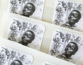 African American Art Stickers Envelope Seals Stickers Set of 12