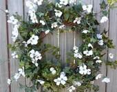 Dogwood with Birds Nest Wreath