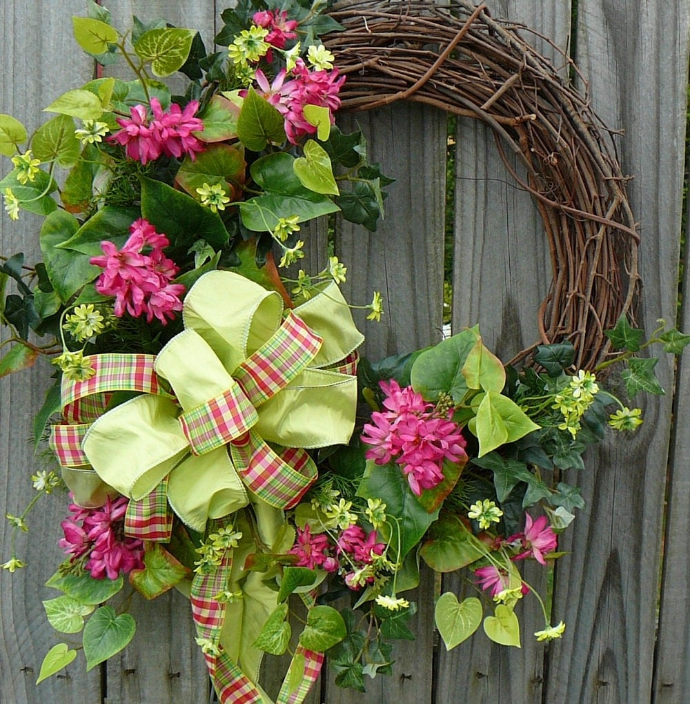 Reserved For Lisa Front Door Wreath Fun Front Door Wreath