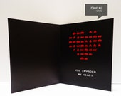 Space Invaders  Valentine's Day Love Printable Card