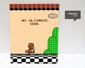 Super Mario 3 Tanooki Love Printed Card