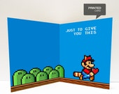 Super Mario Love Printed Card