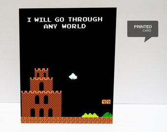 Super Mario 1 Love Printed Card