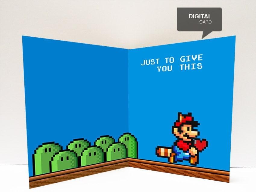 Super Mario Valentines Day Love Printable Card
