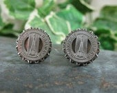 Transit Token Jewelry - Gift for Guy - Authentic Indianapolis, Indiana Transit Token Cuff Links - Indianapolis Railways