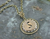 Token Jewelry - Authentic San Diego Transit System Token Medallion Pendant Necklace - Mixed Metals
