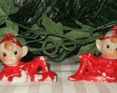 Vintage Elf, pixie, fairy, gnome, imp  figurine Christmas decoration made in Japan.  Cont. US shipping included