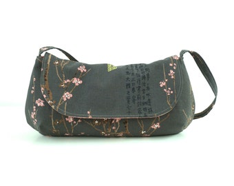 Curvy Clutch Pink Cherry Blossoms - Made to order