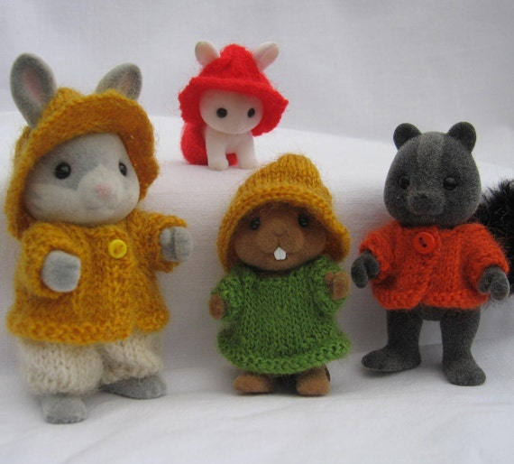 "Knitting pattern ""Rustic"" for Sylvanian & Calico Critters Families, cute kawaii"