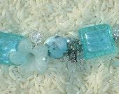 Light Blue Flower Bracelet