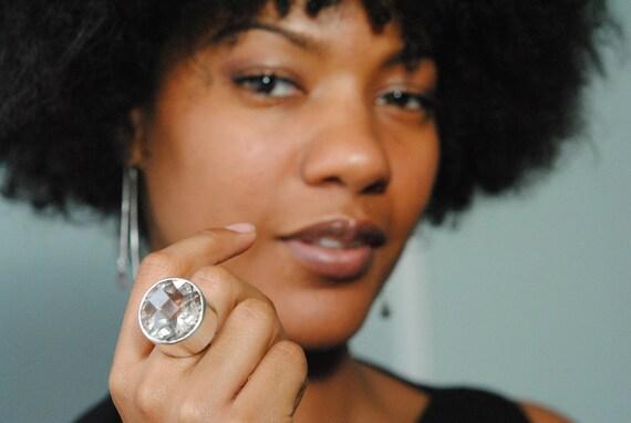 Candy Ring, Smoky Quartz 38ct statement ring