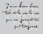 French: I Love two things, you forever, 8x10 poster (Silver Slate) BUY 3 GET 1 FREE