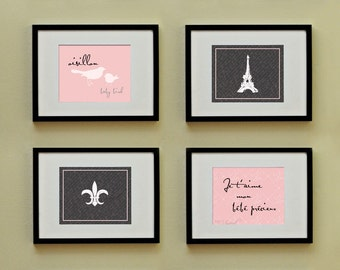 Chic Blush Pink: Set of (4) 8x10 Prints, BUY 3 GET 1 FREE