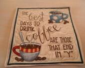 Coffee Themed Mug Rug