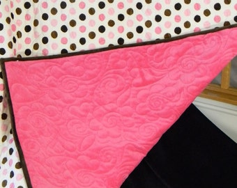 Baby Girl Cuddly Minky Quilt -- Special Value 178.95 Now 129.95