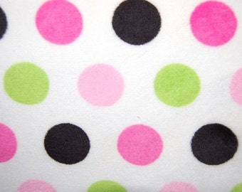 Jumbo Dot Cuddle Minky from Shannon Fabrics - Jumbo Hot Pink/Lime