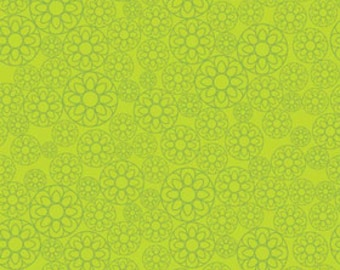 Riley Blake Designs Happier by Denna Rutter. 100% cotton pattern C5503 Green - Happier - Floral