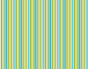 Riley Blake Designs Happier by Denna Rutter. 100% cotton pattern C5506 Blue - Happier - Stripes