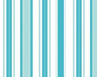 Riley Blake Designs Sugar & Spice by The Quilted Fish. 100% cotton pattern C6116 Blue - Sugar Stripes.