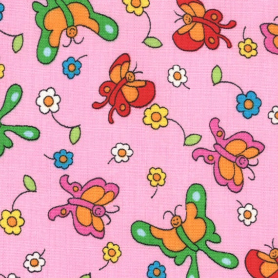 Welcome to Bear Country by the Berenstains - Pink Butterflys 55505-18 Moda