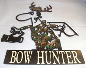 Hunting,Hunter,Deer,Metal Art,Cabin,Lodge,Mountain,Wildlife,Trapping,Camouflage