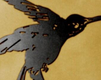 HummingBird, Yard Art, Garden, Bird, Metal Art, Home, Wall decor