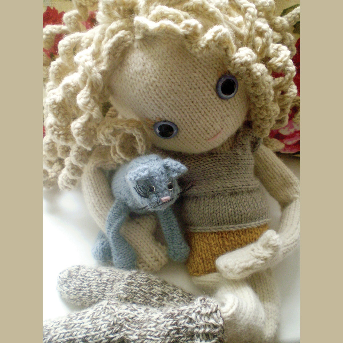 Knitted Doll Patterns : Pixie Moon knitted doll pattern by knittedbabe on Etsy