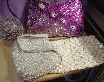 3 Destash Evening Bags,Designer Purse, Destash, Statement Bag, Contemporary, Victorian, Bohemian, Cottage Chic, Eclectic, Elegant, Exotic