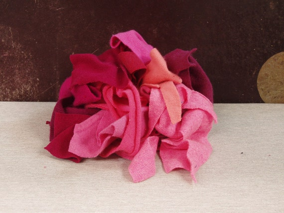 Recycled Cashmere Remnants -Mixed Pink 4 oz