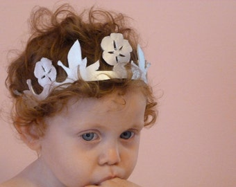 Birthday Princess Crown: The Spring Rose Crown- 1st Birthday crown, Disney, baby hair, princess birthday crown, Bow, flower, baby girl hair,