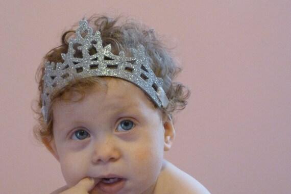 Baby Girl Princess Tiara- The Girl's Tiara- Princess Crown, Birthday Crown, Baby Hair, Girl's Hair, Headpiece, Disney, Princess Tiara
