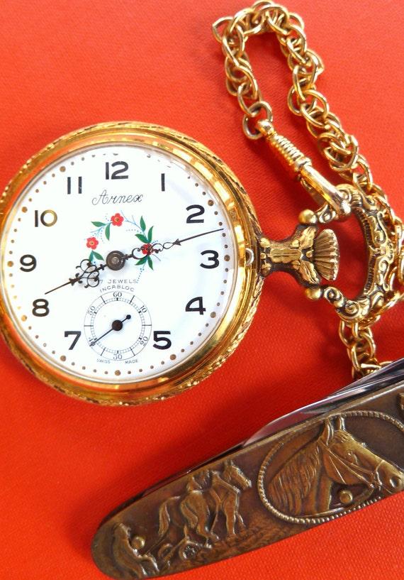 Sale Pocket Watch Arnex Lucien Piccard Swiss Made 1980s