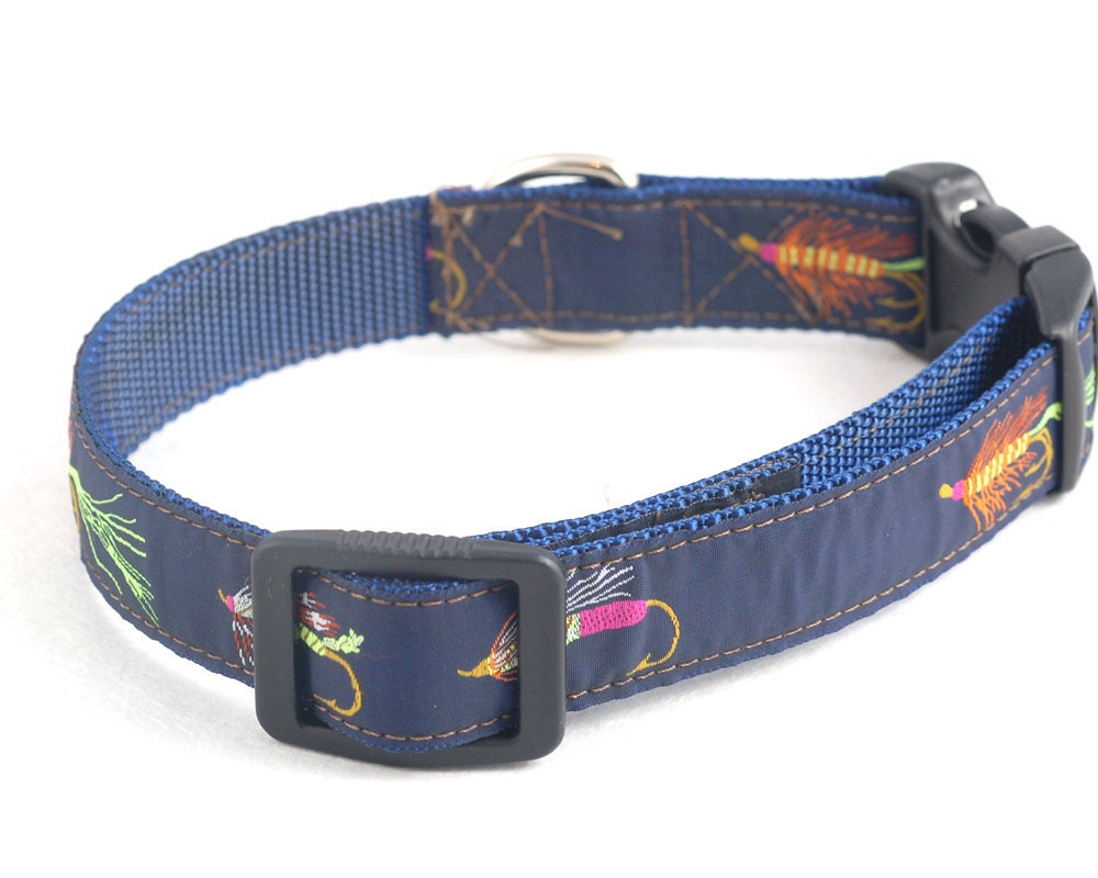 fly fishing dog collar size medium