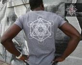 metatrons cube - sustainable tee - mens tshirt - s, m, l, xl, 2x, 3x